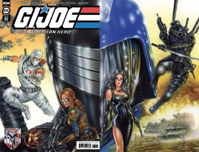 GI Joe #275 Monte Moore Wraparound Cover with Baroness Print