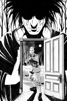 Locke & Key Sandman Hell & Gone #1 Megan Hutchinson B&W Virgin Variant