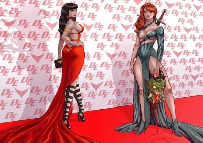 Vampirella and Red Sonja Richard Ortiz Virgin Variants w/COA (7/14/21)