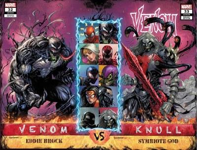 Venom #32 & #33 Tyler Kirkham Connecting Trade Dress Variant Set