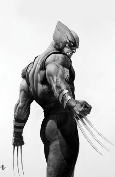 Wolverine #3 Adi Granov CoverB Black & White Virgin Variant