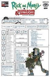 Rick & Morty Vs D&D Ii Painscape #3 Cvr C Character Sheet (M