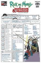 Rick & Morty Vs D&D Ii Painscape #4 Cvr C Char Sheet