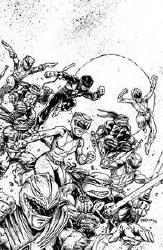Power Rangers Teenage Mutant Ninja Turtles #1 50 Copy Incv (