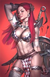 Invincible Red Sonja #2 Josh Burns Virgin Variant w/COA