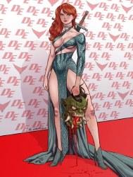 Invincible Red Sonja #3 Richard Ortiz Virgin Variant w/COA (7/14/21)