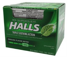HALLS SPEARMINT