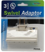 3 OUTLET SWIVEL ADAPTOR 12CT