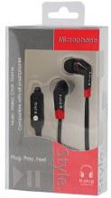 EARPHONE STYLE W/MICRO 1CT