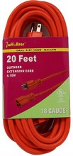 20FT EXTENSION CORD 16G 6CT