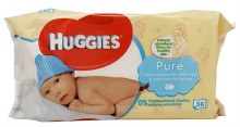 HUGGIES WIPES 10/56CT PURE