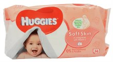 HUGGIES WIPES 10/56CT SOFTSKIN
