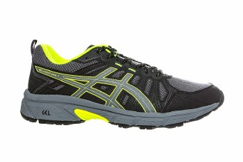 Asics Gel Venture 7 Mens (Black Grey Lime) 7