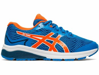 Asics GT1000 8 GS Kids (Blue Orange White) 2