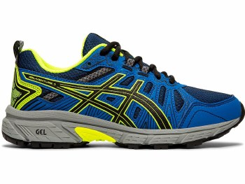 Asics Gel Venture 7 GS Kids (Blue Yellow Black) 3