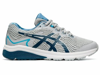 Asics Gel GT1000 8 GS PS Kids (Grey Navy Blue) 13.5