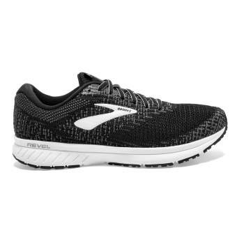 Brooks Revel 3 Mens (Black White) 8