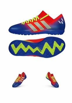 Adidas Nemeziz Messi 18.3 TF Junior (Red/Blue) 5