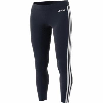 Adidas Essential 3 Stripe Tight (Navy White) Large