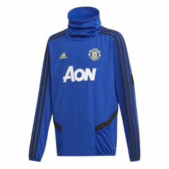 Adidas MUFC Training Warm Up Top Kids 2019/2020 (Blue Black) 15-16