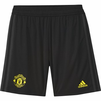 Adidas MUFC Training Shorts Kids 2019/2020 (Black Yellow) Age 7-8