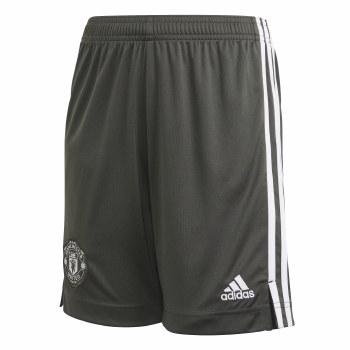 Adidas Man Utd Away Shorts Junior 2020/21 (Grey White)