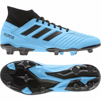 Adidas Prdeator 19.3 Firm Ground Football Boots (Cyan Blue Black) 7