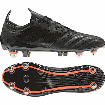 Adidas Malice Rugby Soft Ground Boots (Black Orange) 6