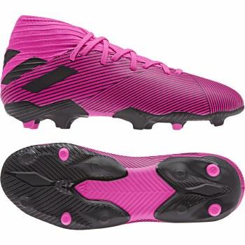 Adidas Nemeziz 19.3 Firm Ground Kids Boots (Pink Black) 5.5