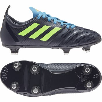 Adidas Malice Junior Soft Ground (Navy Lime Blue) 5.5