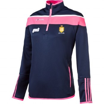 O'Neills Clare Ladies Lene 1/2 Zip (Navy Pink) Age 10-11