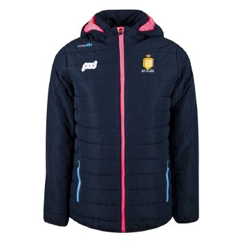 O'Neills Clare Ladies Solar  Full Zip Padded Fleece Jacket (Navy Pink Blue) Age 7-8
