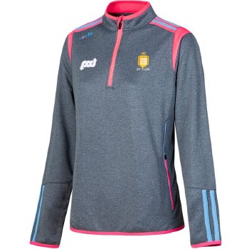 O'Neills Clare Ladies Solar HZ Squad Top (Marl Marine Pink Blue) Age 10-11