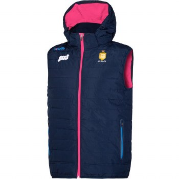 O'Neills Clare Ladies Solar Gilet With Hood (Navy Pink Blue) Age 5-6