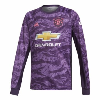 Adidas MUFC Home Goalkeeper Jersey Kids (Purple Pattern) Age 7-8