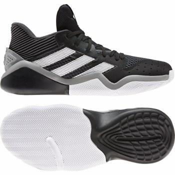 Adidas Harden Stepback Basketball Shoes (Black White Grey) 9