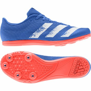 Adidas Allroundstar Junior Running Spikes (Blue Orange White) 3