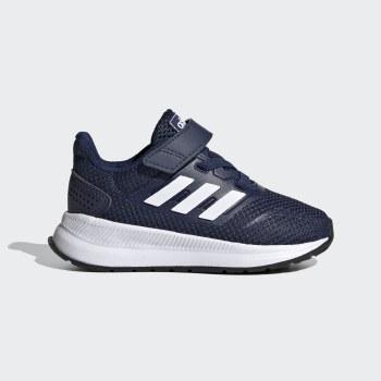 Adidas Run Falcon Infants Running Shoe (Navy White) 8