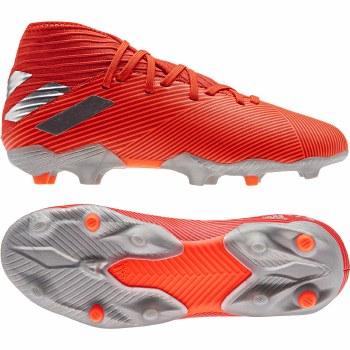 Adidas Nemeziz 19.3 Firm Ground Kids Boots (Red Silver) 1