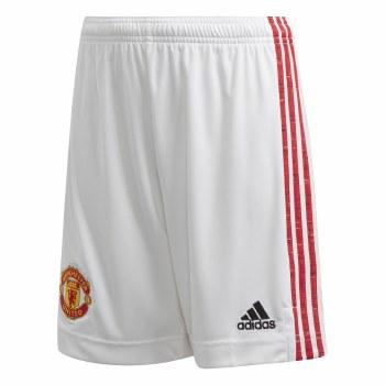 Adidas Manchester Utd Home Short Junior 2020/21 (White Red) 11-12