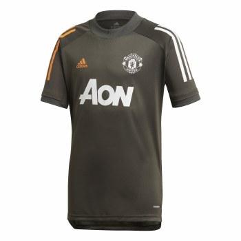 Adidas Manchester Utd Training Jersey Jeresy Junior 2020/21 (Carbon Orange) 7-8