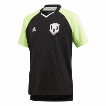 Adidas JB Messi Icon Jersey (Black Lime) 7-8