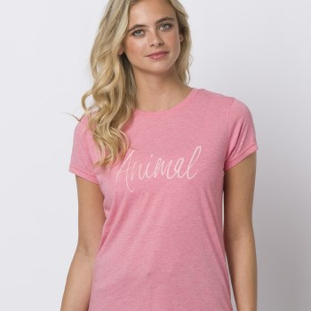 Animal Reel Me In Graphic Tee  (Pink Print) 8