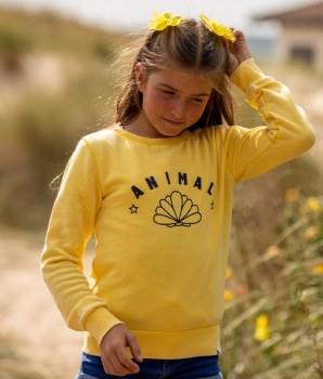 Animal Harper Crew Sweat Girls (Lemon) 7-8