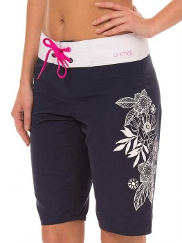 Animal Long Boardshorts (Navy White Pink)
