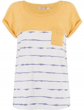 Animal Graphic Stripes Tee (White Lemon Blue) 8