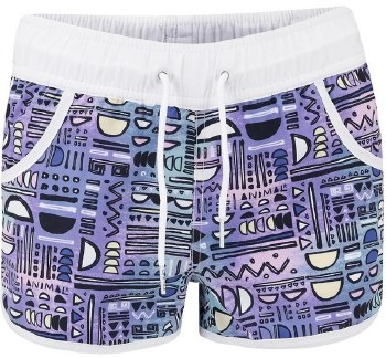 Animal Cali Dreamer Shorts (White Multi Purple Print) Age 9/10