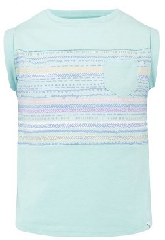 Animal Angella Delux Girls Tee (Mint Multi Stripes) Age 9-10
