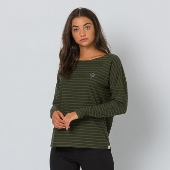 Animal Street Stripes Long Sleeve Tee (Green Black) 10