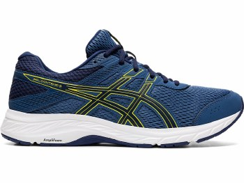 Asics Gel Contend 6 Mens (Navy Yellow) 13